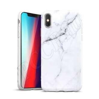 Apple iPhone Xs Max márványfehér szilikon hátlap