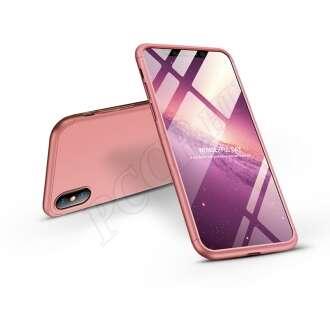 Apple Iphone Xs Max rosegold három részből álló védőtok