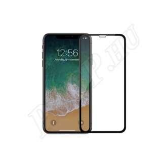 Apple iPhone Xs Max üveg kijelzővédő fólia fekete színben