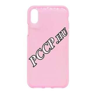 Apple Iphone Xs pink szilikon hátlap