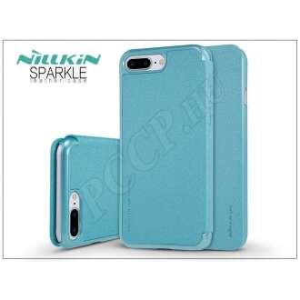 Apple Iphone 8 Plus kék oldalra nyíló flip tok