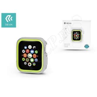 Apple Watch 4 (40mm) ezüst/neon zöld védőtok