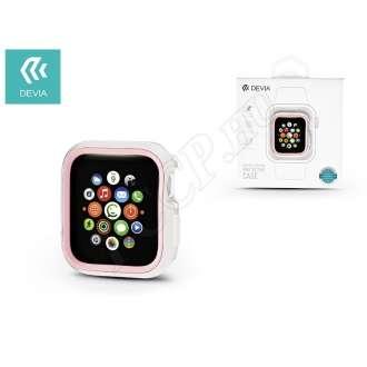 Apple Watch 4 (44mm) fehér/pink védőtok