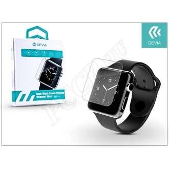 Apple Watch üveg képernyővédő fólia fekete színben