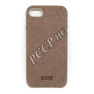 Apple Iphone 7 barna textíl borítású hátlap