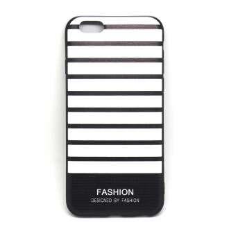 Apple Iphone 8 fekete/fehér szalagos design hátlap