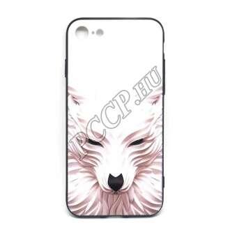 Apple Iphone 7 fehér farkasos design hátlap