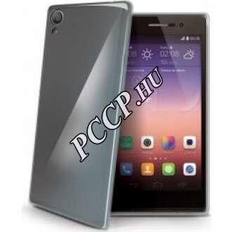 Huawei P8 Lite fekete szilikon hátlap