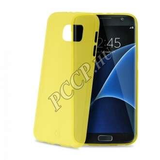 Samsung Galaxy S7 Edge sárga ultravékony szilikon hátlap