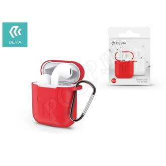 Devia piros szilikon tok airpods fülhallgatóhoz