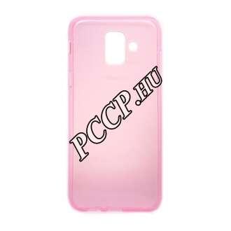 Samsung Galaxy A6 pink vékony szilikon hátlap