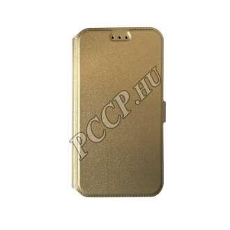 Samsung Galaxy J1 (2016) arany flip oldalra nyíló tok
