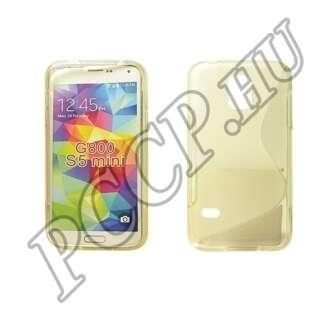 Samsung Galaxy S5 Mini átlátszó-fehér szilikon hátlap