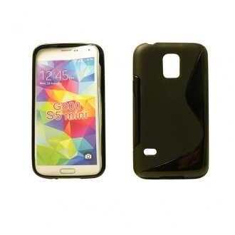 Samsung Galaxy S5 Mini fekete szilikon hátlap