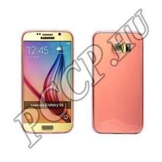 Samsung Galaxy S6 pink ultravékony szilikon hátlap