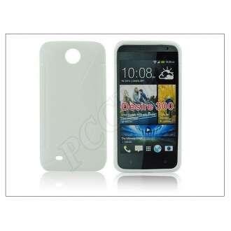 HTC Desire 300 fehér szilikon hátlap
