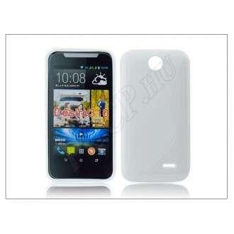 HTC Desire 310 fehér szilikon hátlap