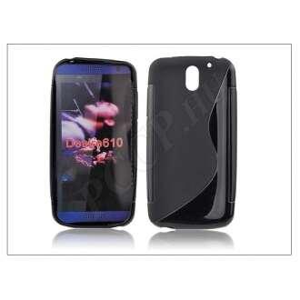 HTC Desire 610 fekete szilikon hátlap