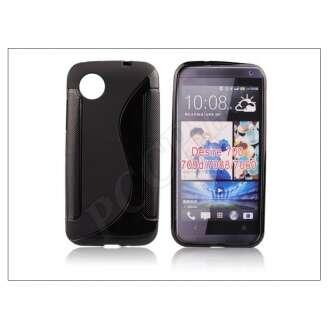 HTC Desire 700 fekete szilikon hátlap