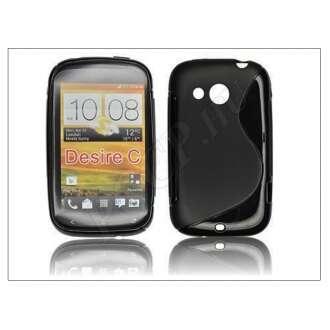 HTC Desire C fekete szilikon hátlap