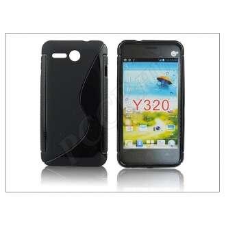 Huawei Ascend Y320 fekete szilikon hátlap