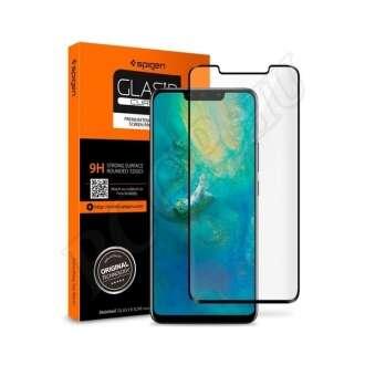 Huawei Mate 20 Pro hajlított kijelzővédő fólia fekete színben