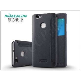 Huawei Nova fekete oldalra nyíló flip tok