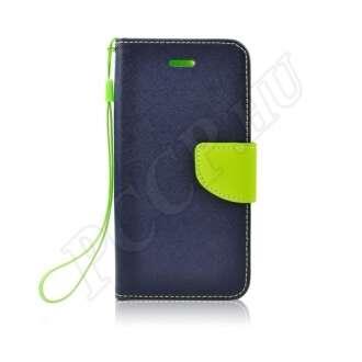 Huawei P20 Lite kék-lime flip tok