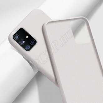 Huawei P30 fehér prémium szilikon hátlap