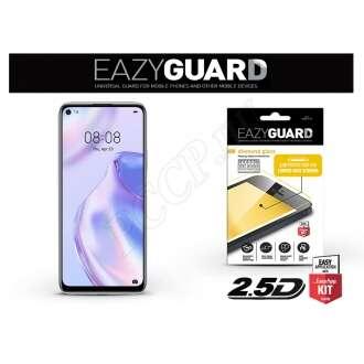 Huawei P40 Lite 5G fekete gyémántüveg kijelzővédő fólia