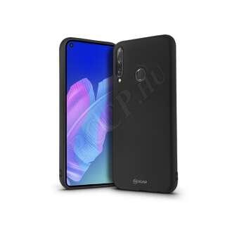 Huawei P40 Lite E fekete szilikon hátlap