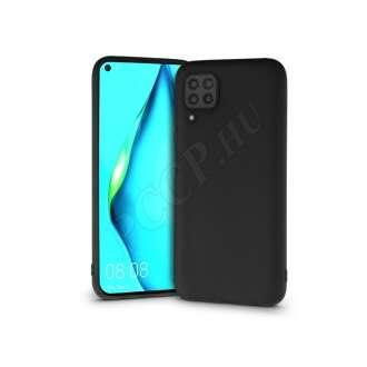 Huawei P40 Lite fekete szilikon hátlap