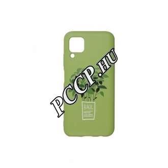 Huawei P40 Lite zöld bazsalikom mintás BIO környezetbarát hátlap