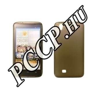 Huawei P8 Lite fekete vékony szilikon hátlap