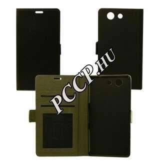 Huawei P9 fekete flip oldalra nyíló tok