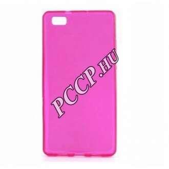 Huawei P9 pink vékony szilikon hátlap