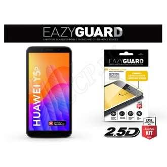 Huawei Y5P fekete gyémántüveg kijelzővédő fólia