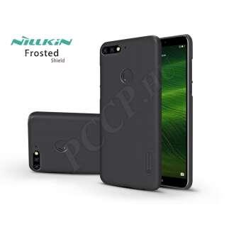 Huawei Y7 Prime (2018) fekete hátlap kijelzővédő fóliával