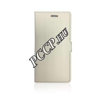 Apple Iphone 7 Plus fehér flip oldalra nyíló tok