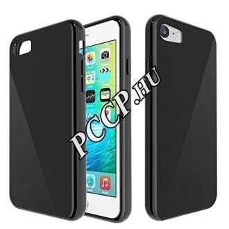 Apple iPhone 7 Plus fekete vékony szilikon hátlap