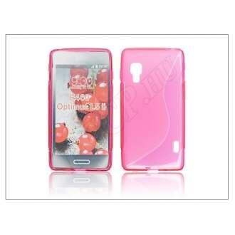 LG Optimus L5 II pink szilikon hátlap