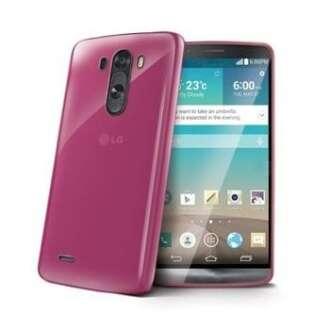 LG G3 pink szilikon hátlap