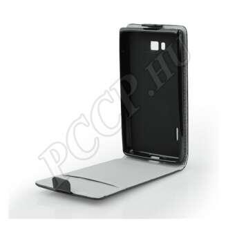LG K3 (2017) fekete flip tok szilikon belsővel