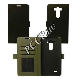 LG K4 fekete flip oldalra nyíló tok