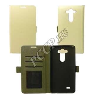 LG K8 fehér flip oldalra nyíló tok