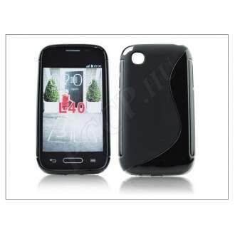 LG L40 fekete szilikon hátlap