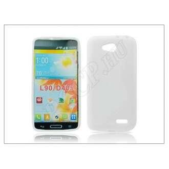 LG L90 D405 fehér szilikon hátlap