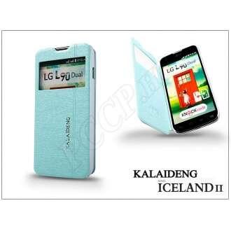 LG L90 kék flipes tok