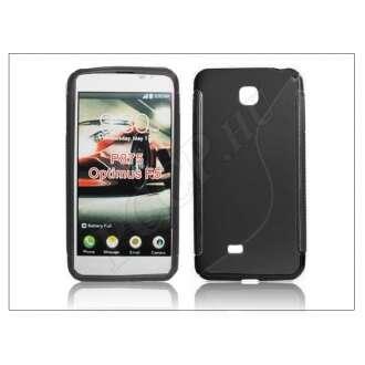 LG Optimus F5 fekete szilikon hátlap