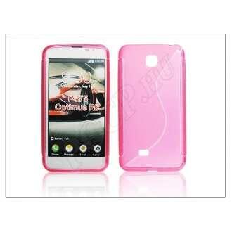 LG Optimus F5 pink szilikon hátlap